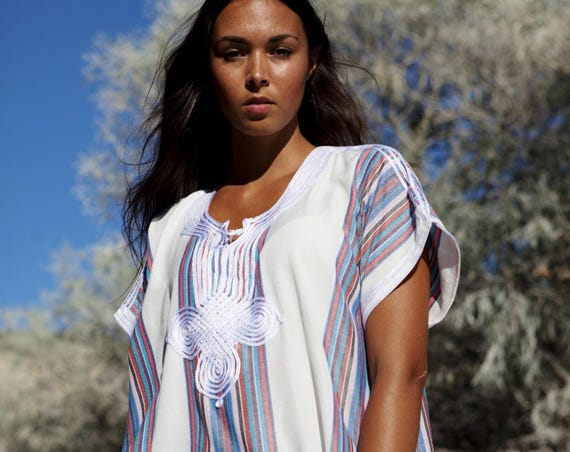 White Kaftan Caftan  Dress-Resort Kaftan, abayas, beachwear, beach cover ups,resortwear, beach kaftan, Spring dress, bohemian,beach kaftan