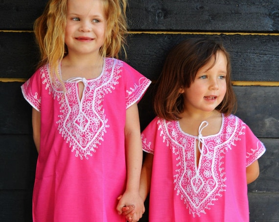 Spring 10% Sale// Marwa-Pink Gold 4-6 year old kaftan  Melika -Reserved Order, , Eid,,boxing day sale,summer dress,beach kaftan,Easter
