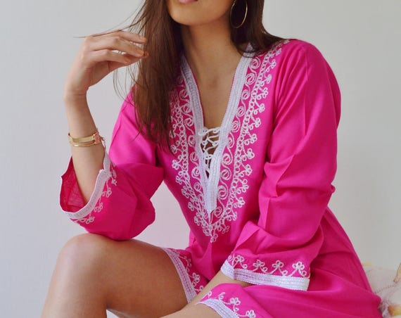 Autumn Trend Traditional Marrakech Tunic- christmas giftswear, resortwear, birthday gifts, beach wear, boho, moroccan tunic, Autumn fashion