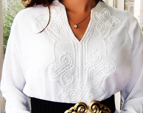 Summer Summer White Moroccan Caftan Kaftan- Bedouin  -Eid wear, Abayawear,resortwear, Maternity Gift, dress,beach kaftan,holiday wear,Easter
