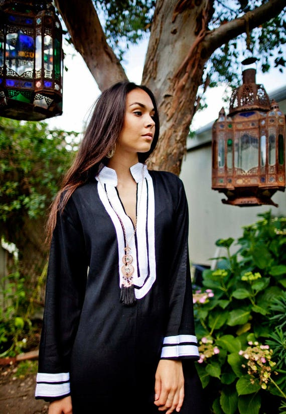 Moroccan Kaftan amp; kaftan maxi Abayas dres loungewear Kaftan cover White Black beach Mariam resortwear beach dress Caftan up SYwtqrS