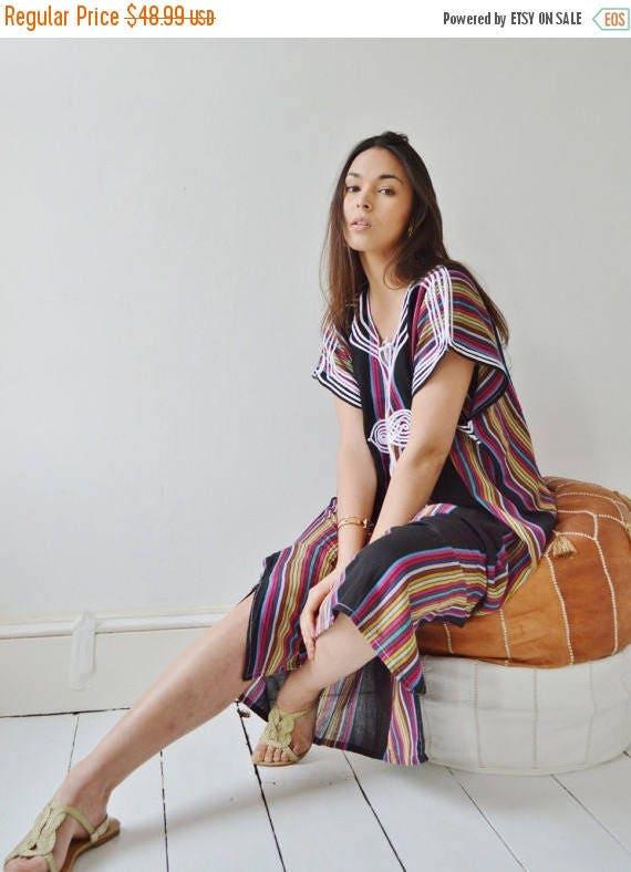 KAFTAN SALE 10% OFF// Black Bedouin Resort Moroccan Caftan Kaftan-Beach kaftan, maternity wear,loungewear, as beachwear,cover ups,resortwear