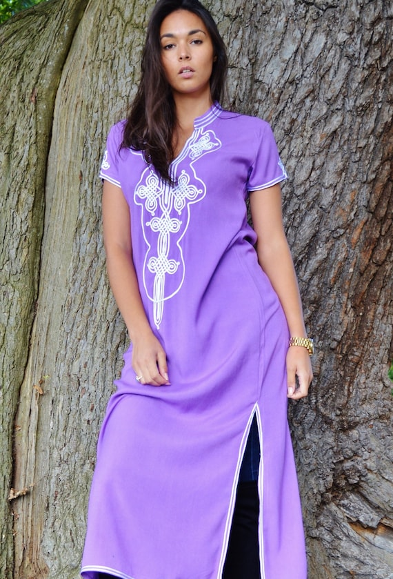 NEW Honeymoon Boho Sleeve Caftan winter dress Wedding Aisha Trendy Lilac Maternity Purple Clothing Short resortwear Kaftan WINTER rWzq701wr