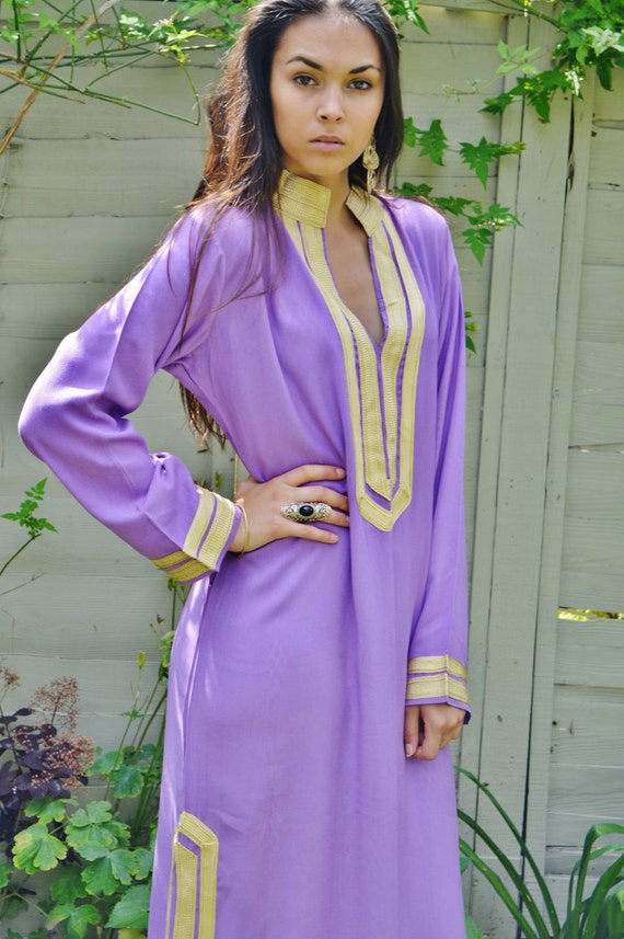 Spring Spring Mariam  Lilac Caftan Kaftan- perfect  Christmas giftswear,resortwear, birthday gift, beach cover up, dress,