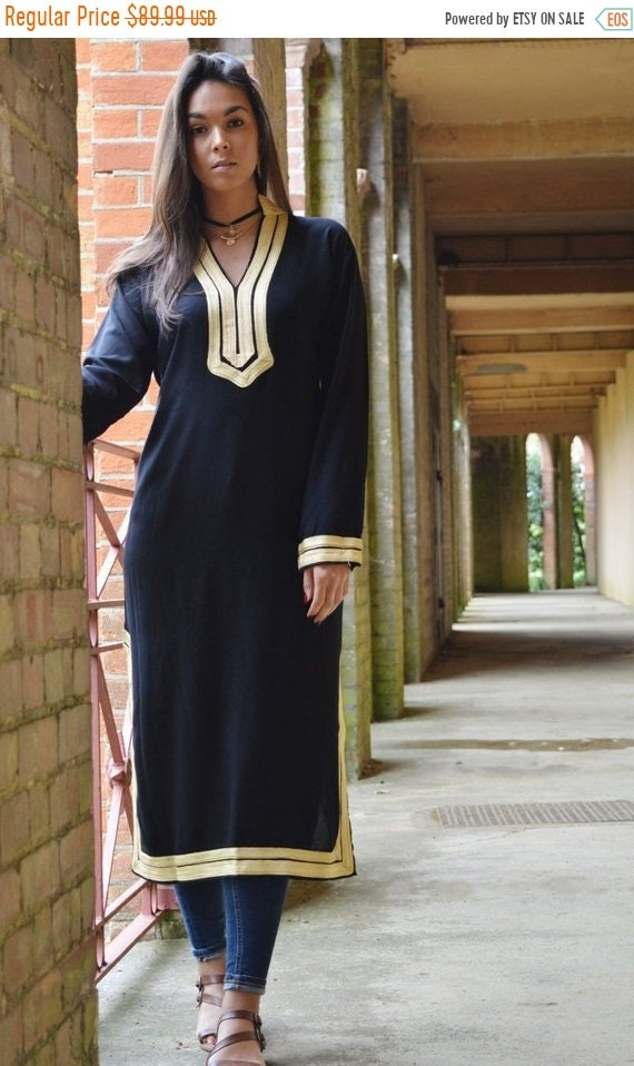 Kaftan Sale / Autumn Mariam Style Black Caftan Kaftan - Perfect as loungewear,resortwear,,gift, winter dress, Birthdays or Ma,halloween