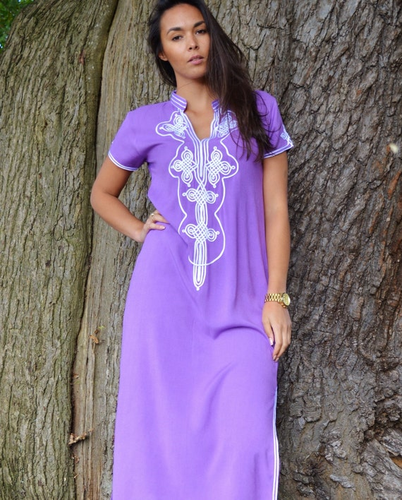 Trendy Short Maternity WINTER Caftan Purple Sleeve NEW resortwear Aisha Lilac dress Honeymoon Clothing Wedding winter Boho Kaftan z8qnxx6XW
