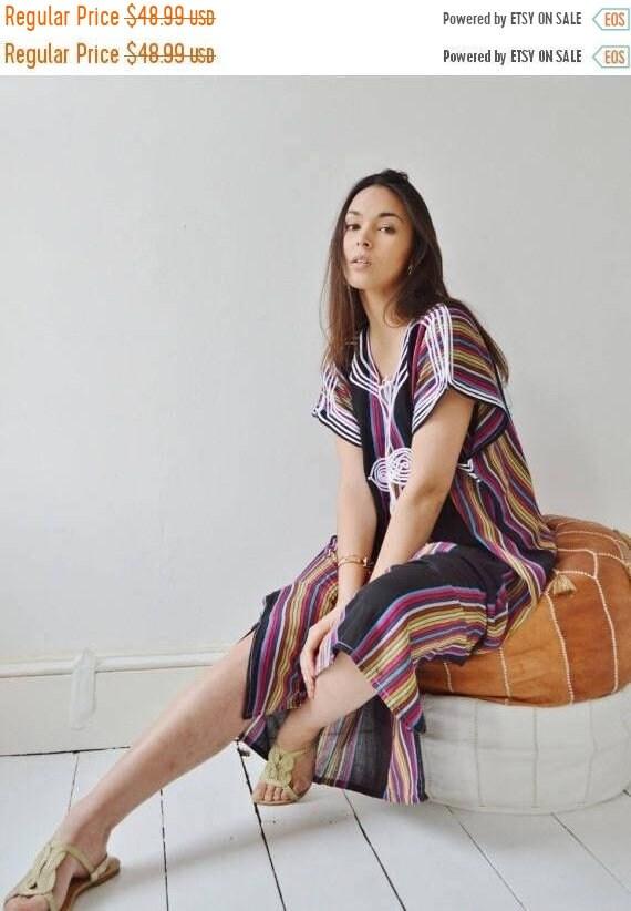 Kaftan Sale / KAFTAN SALE 10 Percent OFF// Black Bedouin Resort Moroccan Caftan Kaftan-Beach kaftan, maternity wear,loungewear, as be