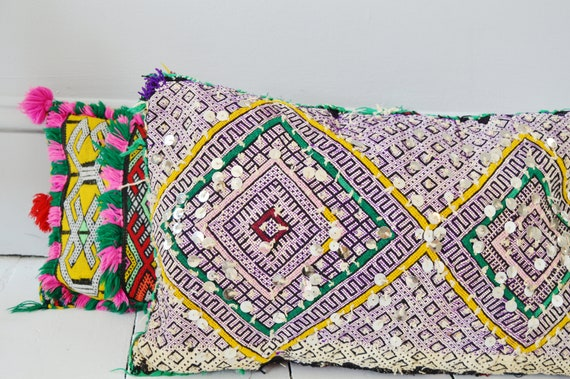 Winter Vintage Moroccan Boho Pattern Kilim Berber Carpet Cushions-lumbar, vintage cushions, christmas gifts, gifts, rug cushion covers No.3