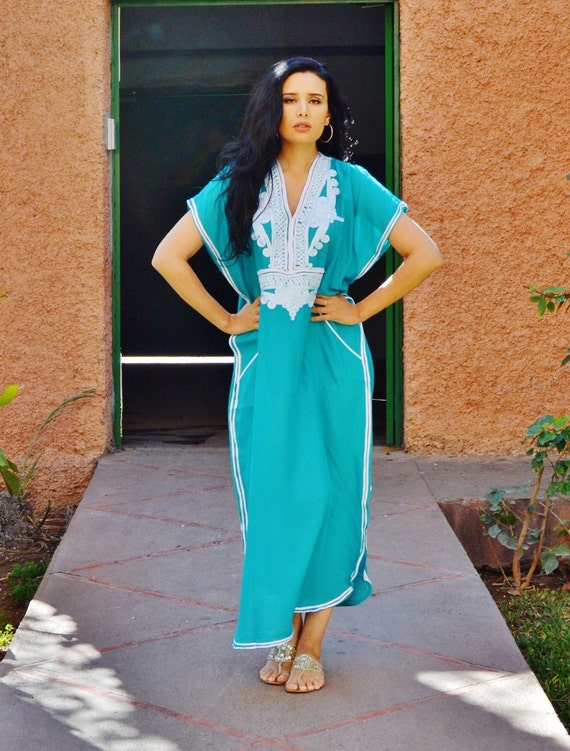 Spring Emerald Green Resortwear Caftan Kaftan- Ramadan, beach cover up, resortwear,abaya wear, maternity wear, birthday, wedding gifts