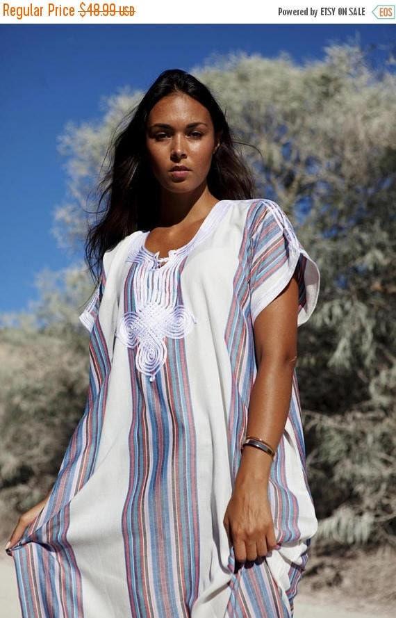 White Kaftan Caftan Summer Dress-Resort Kaftan, abayas, beachwear, beach cover ups,resortwear, beach kaftan, dress, Ramadan, Eid