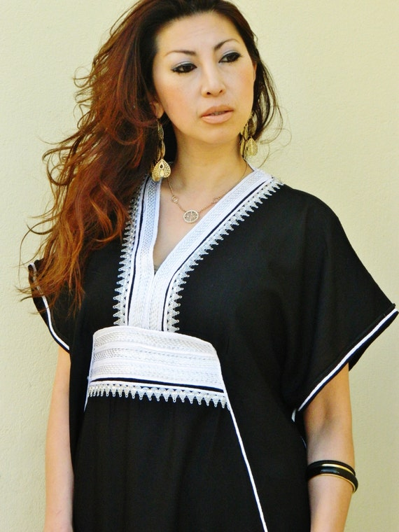 Black Marine Resort Caftan Kaftan -Ramadan, Eid, wedding, resortwear,loungewear, maxi dresses, birthdays, honeymoon, maternity gifts,Easter