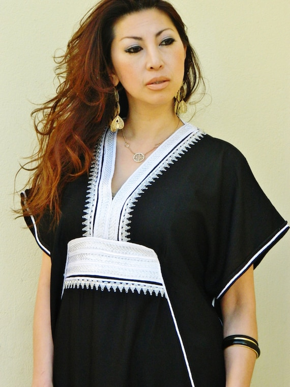 Spring Black Marine Resort Caftan Kaftan -Ramadan, Eid, wedding, resortwear,loungewear, maxi dresses, birthdays, honeymoon, maternity gifts,