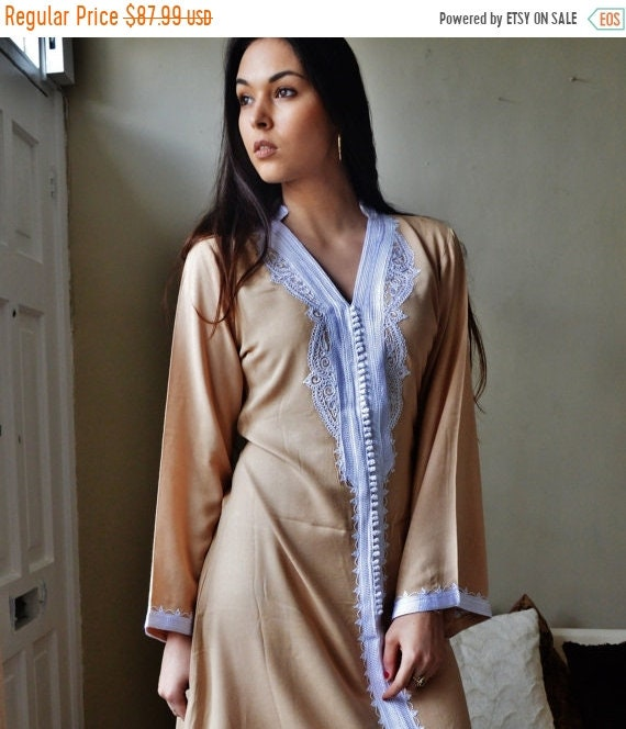 Kaftan Sale 20% Off/ Beige Marrakech Dress - perfect for mother's day gifts, birthday gifts, resort wear, party,casual dress