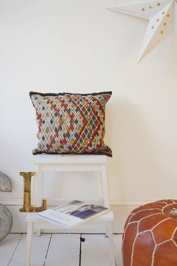 Vintage Moroccan Pattern Kilim Berber Carpet Cushions-lumbar, vintage cushions, christmas gifts, gifts, No.17, Ramadan, Eid