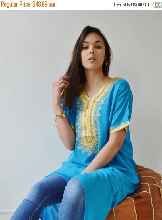 Autumn Dress Turquoise Resort Caftan Kaftan- dress, Resort Kaftan, beach coverup,loungewear, maxi dresses, birthdays, Eid, christmas gift
