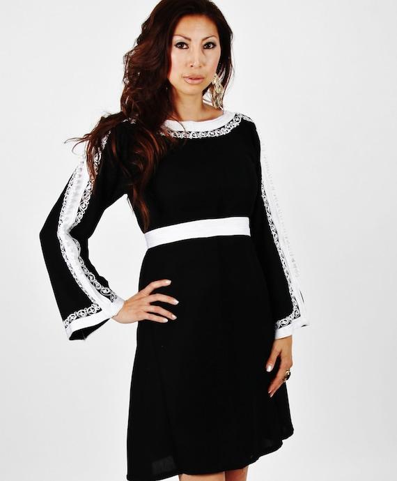 Trumpet Sleeve Tunic Dress-Latishia -  s Birthdays Gifts  her, Ramadan, Eid,beach kaftan,,holiday wear