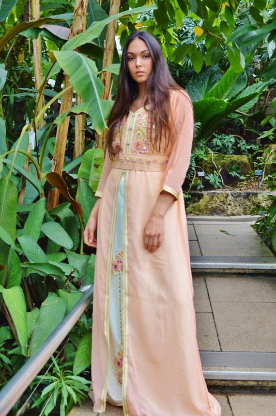 18de4df7c7 ... Kaftan Moroccan Modern Pink Gold Embroidery Caftan  Kafan-Millia-moroccan parties, weddings,