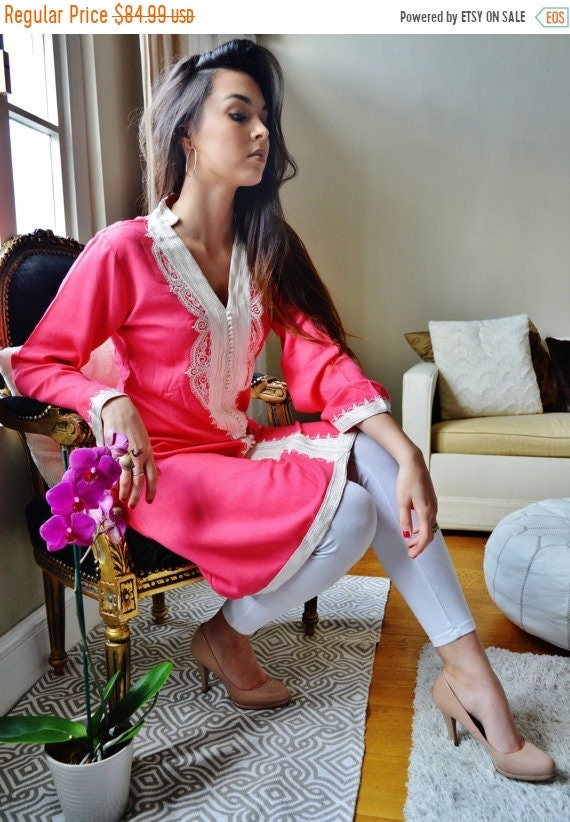 Kaftan Sale /  Pink Marrakech Dress - perfect for birthday gifts, resort wear, party,casual dress, resortwear, holiday wear,mat,halloween