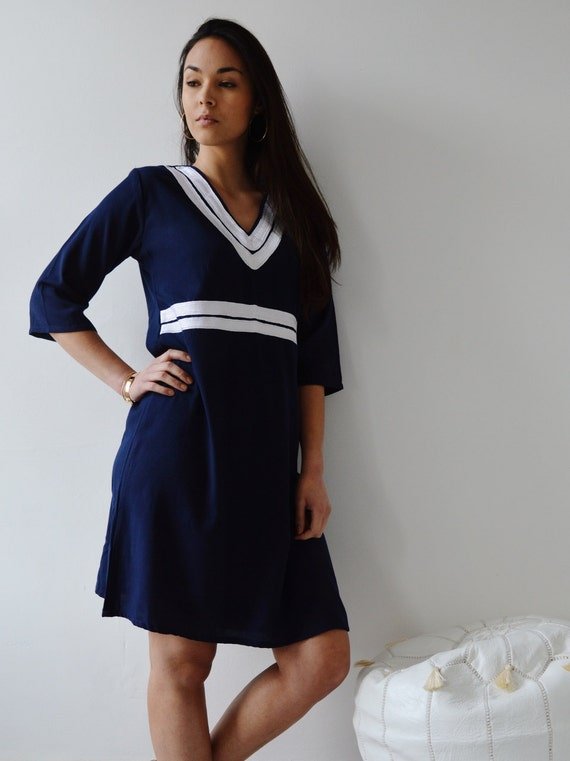Maryam dresses women's bohemian Women's Summer gifts bohemian Navy dresses holiday dress Dress resortwear Style Reina Blue Tunic wear qF7gtnfxw