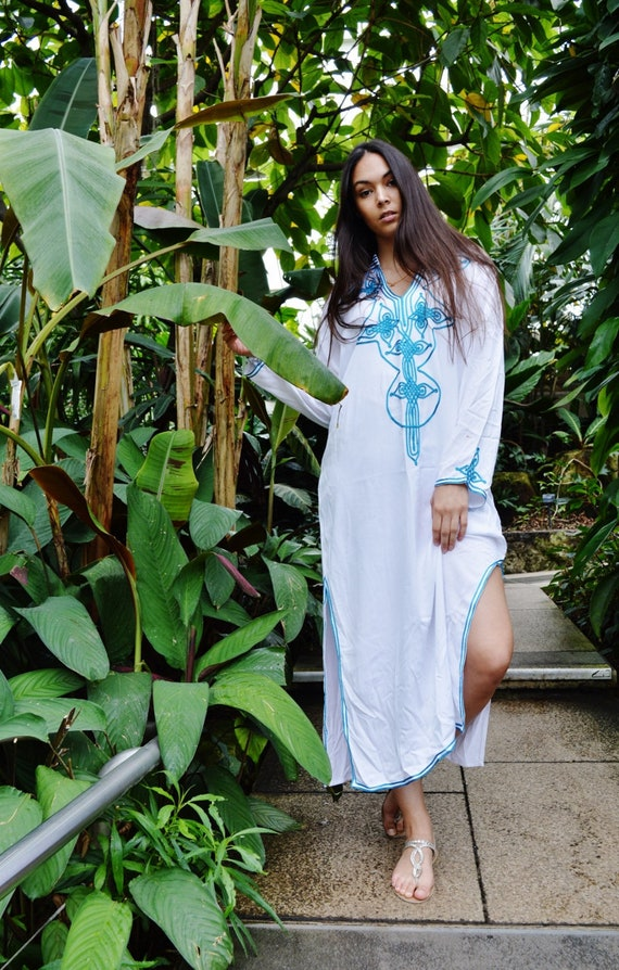 Kaftan Sale 20% Off/ Kaftan White Moroccan Caftan Kaftan Dress - Bedouin Style-loungewear ,resortwear,spa robe, for Birthdays or Maternity G