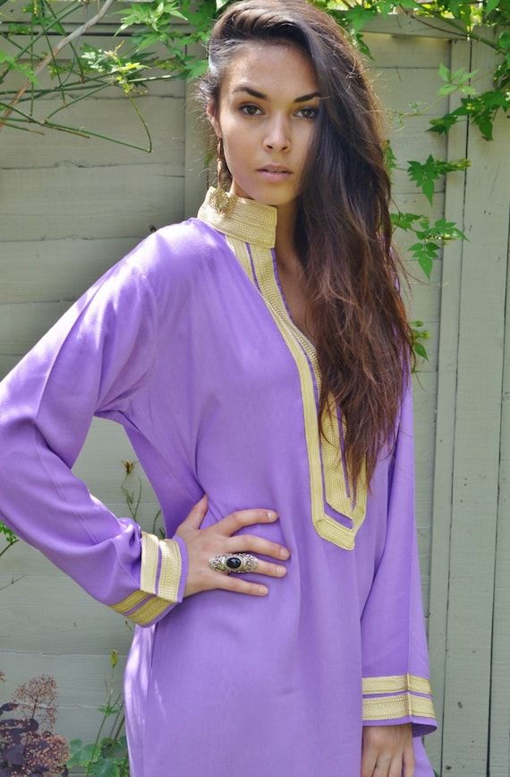 Mariam Style Lilac Caftan Kaftan-Perfect for Christmas gifts, loungewear,resortwear, bohemian, winter dresses, birthday gift, beach cover up