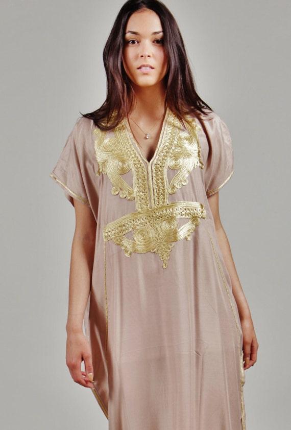 Winter Winter Winter Beige Marrakech Resort Caftan Kaftan - resortwear,loungewear, maxi dresses, birthdays, honeymoon, maternity gifts