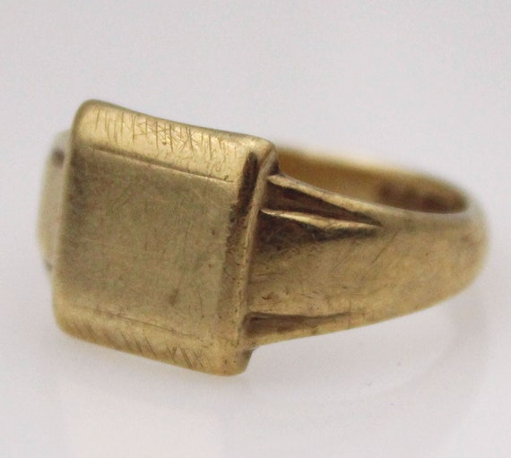 9ct Gold Signet Ring Mens Ring Mens Jewellery Mens Jewelry Etsy