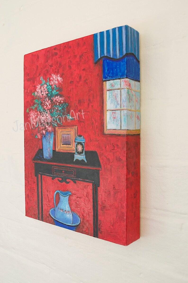 canvas art KITCHEN decor Still life Etsy Art designer decor by Jan Matson living room art Red painting