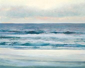 Ocean Art, FRAMED, beach decor, seascape painting, ocean painting, coastal wall art, beach painting, Etsy Art, Jan Matson