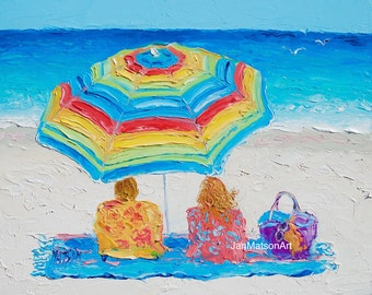 Beach painting, FRAMED, Beach decor, Tropical Art, beach art, Etsy Art, seascape, coastal decor, beach artwork, coastal art, Jan Matson