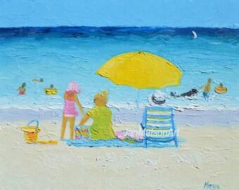 Beach decor, Tropical Art, Beach painting, beach art, kids room, bathroom art, seascape, coastal decor, beach artwork, coastal art, Matson