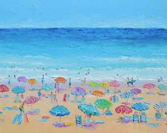 Beach painting, Beach decor, beach art, seascape, ocean painting, coastal decor, beach artwork, beach house decor, Etsy Art, Jan Matson