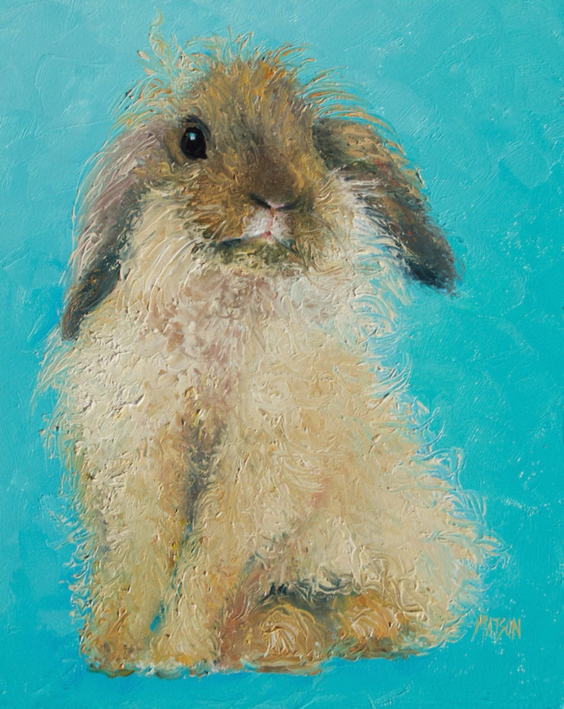 Easter bunny art, Framed RABBIT painting, Nursery Art, Easter gifts, bunny  painting, animal paintings, kids room wall art, Etsy Art,