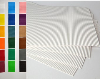 """Large sheets 13""""x 9"""" corrugated cardboard for crafting"""