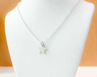 Sterling Silver Star Necklace, Star Necklace, Minimalist Necklace