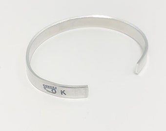 Cheer Cuff Bracelet, Hand Stamped Cheer Bracelet with Number and Letter, Cheer Senior Gift, Cheer Coach Gift, Cheerleading Bracelet