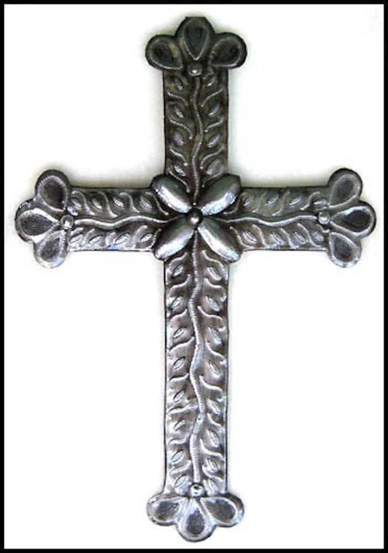 Metal Art Cross Wall Hanging Christian Wall Decor 12 Metal Cross Haitian Steel Drum Art Christian Cross Metal Art Of Haiti Cs100 12