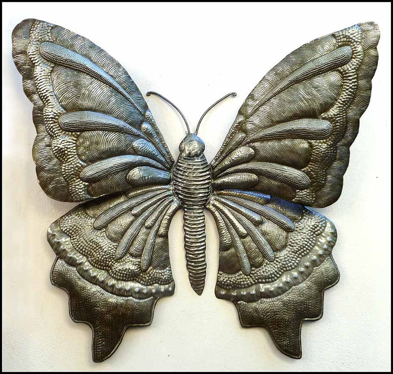 Butterfly Metal Wall Decor Garden Decor Garden Art Haitian Art Metal Wall Art Metal Art Metal Butterflies 21 X 24 577 24