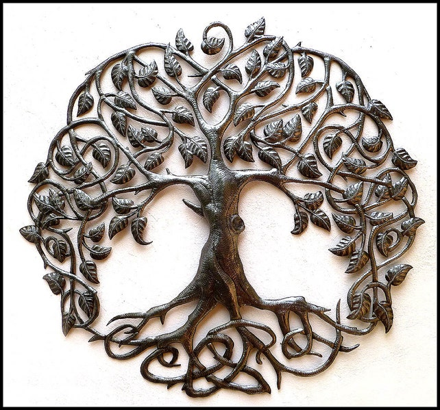 Haitian Metal Art Tree of Life Tree Wall Hanging Metal Art | Etsy