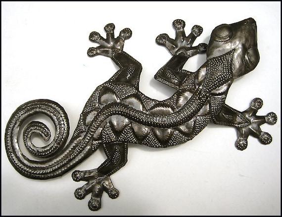 Metal Wall Art Haitian Metal Art 26 Gecko Metal Art | Etsy