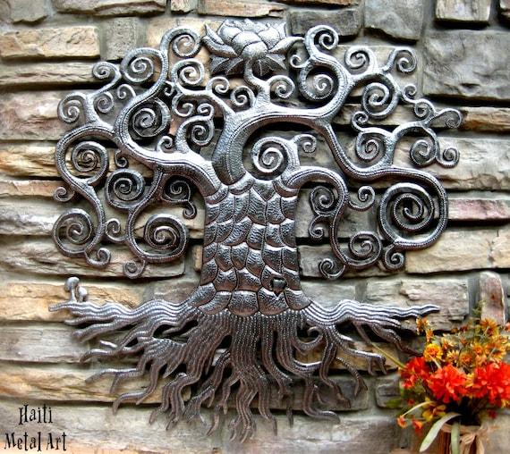 Metal Tree of Life, Metal Wall Art, Metal Tree Wall Hanging, Metal Art Wall  Decor, Outdoor Metal Art, Haitian Art, Recycled Steel Drum, 424