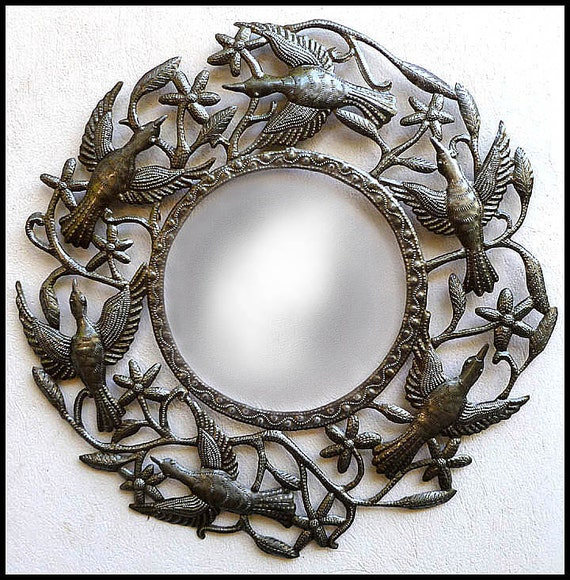 Wall Mirror Metal Mirror Wall Hanging Metal Wall Mirrors | Etsy