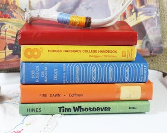 Colorful books   Etsy