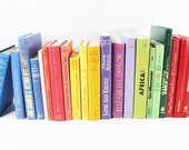 Your Choice Colorful Books by the Foot, Instant Vintage Library, Decorative Book Stack, Custom Books for Wedding, Bookshelves , Display