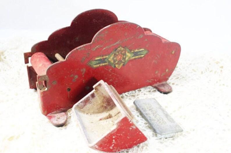 1947 Packer Metal Tape Dispensing Machine Heavy Metal Vintage Tape Dispenser