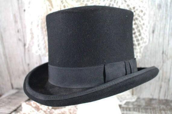 HALLOWEEN! Vintage Black Top Hat, Great Costume Ha