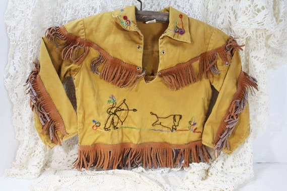 Indian Shirt with Fringe & Embroidery, Indian Cost