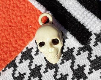 Vintage Skull Cracker Jack Bubble Gum Toy Prize Charm for Necklace Halloween