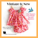 PDF Sewing Pattern Frilly Flower Top and Bloomers 0-3 Months - 24 Months