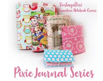 PDF Sewing Pattern VintageDori TN Covers Travelers Notebook Pixie Series 5 sizes